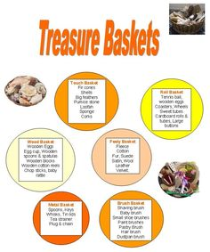 How to Make a Treasure Basket for Your Baby – Baby Room 2020 Baby Room Activities, Sensory Activities, Infant Activities, Activities For Kids, Activity Ideas, Educational Activities, Baby Sensory Play, Baby Play, Sensory Tubs
