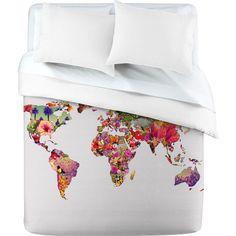 map comforter - denny designs