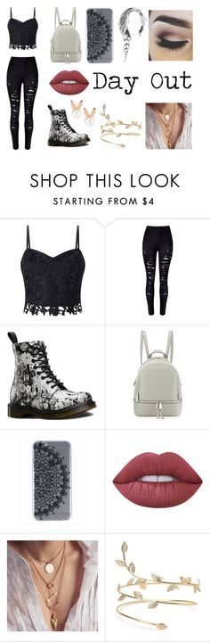 """""""Day Out"""" by shamelessinternetaddict ❤ liked on Polyvore featuring Lipsy, WithChic, Dr. Martens, MICHAEL Michael Kors, Lime Crime and Aamaya by priyanka"""