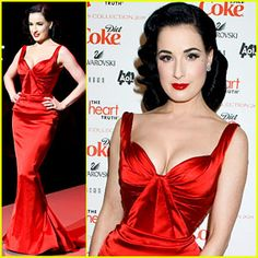 Dita Von Teese in Zac Posen at the Heart of Truth Fashion Show to kick of NY Fashion Week