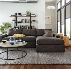 Living Room With Benjamin Moore Edgecomb Gray Walls Gray