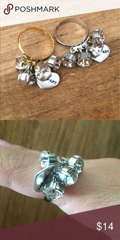 Adjustable dangle ring made in Italy Adorable adjustable ring charm ring made in Italy by Maiden Art. Available in gold and silver band. Final sale Jewelry Rings