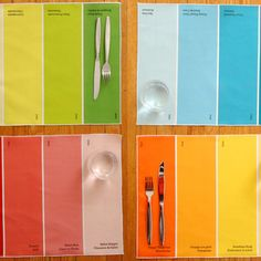Paint Chip Dining Placemats.