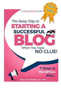 If you have ever wanted to start a blog this is the perfect book for you.  Learn the 7 simple and easy steps to creating you're very own Wordpress Blog.  Very beginner friendly! Creating A Blog, How To Start A Blog, Wordpress, Success, Learning, Create, Simple, Easy, Books