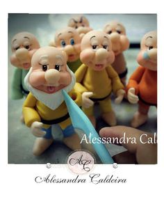 Atelier Alessandra Caldeira Modeling Biscuit Cute Polymer Clay, Cute Clay, Polymer Clay Dolls, Fondant Figures, Clay Figures, Ceramics Projects, Clay Projects, Clay Crafts, Cold Porcelain Tutorial
