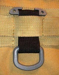 Black military Tactical T-Ring Adaptor for molle pals acu…