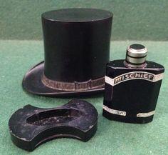 Vintage Art Deco Saville 'Mischief' Perfume in a Bakelite Top Hat - Scarce Item