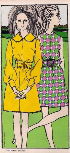 Fashion illustration from 1969 Vogue Pattern Book