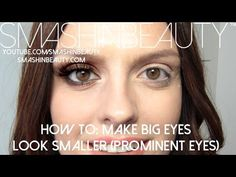 How to make big prominent eyes look smaller makeup for beginners duration 3 35 smashinbeauty 79 774 views eye makeup for protruding eyes the secret to perfect eye makeup knowing your eye shape the blondesthe blondes Diy Beauty Makeup, Eye Makeup Tips, Smokey Eye Makeup, Skin Makeup, Makeup Geek, Beauty Tips, Glamour Makeup, Makeup Remover, Beauty Ideas