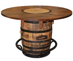 Look at high quality Awesome Barrel Bar Table Jack Daniels Barrel Pub Table design ideas in numerous graphics from Jean Green, home remodeling specia. Jack Daniels Whiskey Barrel, Whiskey Barrel Table, Wine Barrels, Wine Barrel Bar Table, Bourbon Barrel, Table Baril, Barris, Barrel Projects, Wine Barrel Furniture