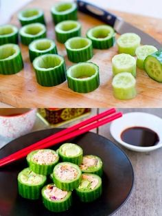 Sushi with Salmon & Avocado Paleo Sushi with Salmon and Avocado! Make healthier choices with tasty ingredients from !Paleo Sushi with Salmon and Avocado! Make healthier choices with tasty ingredients from ! Paleo Sushi, Paleo Diet, Quinoa Sushi, Sushi Food, Paleo Vegan, Avocado Recipes, Paleo Recipes, Cooking Recipes, Delicious Recipes