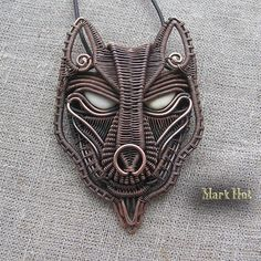 My new Werewolf pendant. This pendant was made to order. MarkHot wire wrap jewelry on FB/ Order welcome