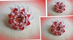 """Цветок из лент/ Канзаши/ МК/ Flower of the ribbons/ DIY/""""Пышный лепесток..."""