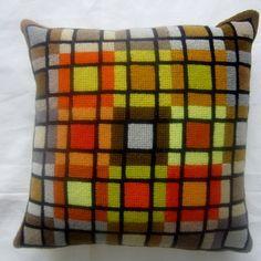 Geometric Needlepoint Pillow