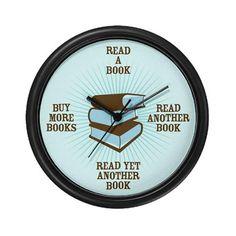 Avid Reader Wall Clock