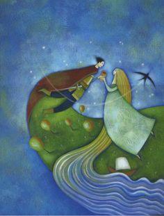"Alessandra Cimatoribus illustration for ""Tristano e Isotta"""