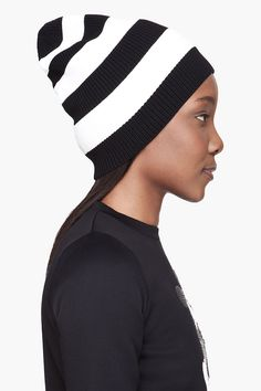 Marc Jacobs Black and White beanie