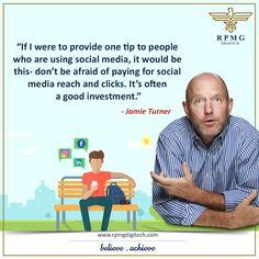 Don't be afraid to spend wisely!  #SocialMediaMarketing #MarketingTips #OnlinePromotion #RPMGdigitech