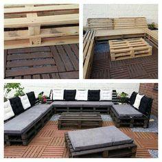 Use #crates to #diy #garden #furniture #craft #summer #midastouchcrafts