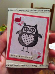 belle idée de carte fait main et fait maison par Allie 14 vie www.cartefaitmain.eu #carte #diy