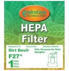 DIRT DEVIL F-27 FILTER GENERIC#951 >>#Dirt Devil  #VacuumFilter
