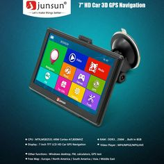 Multifunction Car Multi-media Player GPS Navigation with Free Maps of North America Sales Online - Tomtop North America Map, Free Maps, Gps Navigation, Multimedia, Tech, Car, Automobile, Technology, Autos