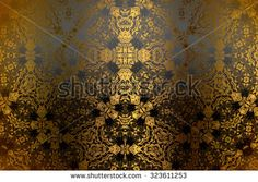 Black golden abstract   background , with   painted  grunge background texture for  design . - stock photo