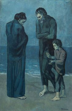 Pablo Picasso - The Tragedy, 1903, oil on wood