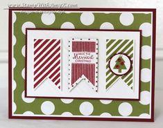 Pop & Place Tags With Christmas Tagables – Stampin' Up! Christmas Card Crafts, Christmas Words, Christmas Scrapbook, Stampin Up Christmas, Christmas Tag, Christmas Greetings, Christmas Traditions, Handmade Christmas, Banner