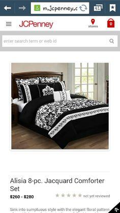 JCPenney Alisia  8 piece Jacquard Comforter