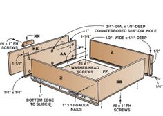❧Drawer construction how-to illustration
