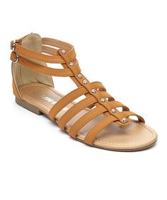 Another great find on #zulily! Tan Gemini Gladiator Sandal #zulilyfinds