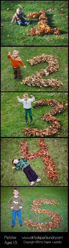 Create a Fall photo tradition — Years in Leaves ... I love this!