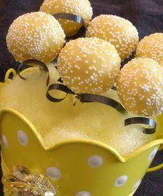 Lemon Cake pops created for a custom jewelry open house