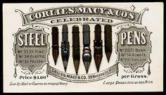 Antique pen nibs