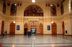 Eastern Railway station-Lotz Hall- Budapest. Hungary