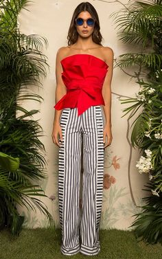Johanna Ortiz Resort 2017. This dramatic red blouse will probably lead you to fun places. Enjoy RUSHWORLD boards, UNPREDICTABLE WOMEN HAUTE COUTURE, WEDDING GOWN HOUND and LULU'S FUNHOUSE. Follow RUSHWORLD! We're on the hunt for everything you'll love!