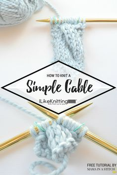 Learn how to knit a simple cable with this free tutorial from Knit Stitches For Beginners, Knitting Basics, Easy Knitting Patterns, Knitting Stitches, Knitting Projects, Crochet Patterns, Knitting Machine, Knitting Tutorials, Crochet Ideas