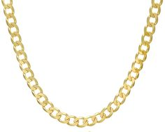 Citerna 9ct Yellow Gold Curb Necklace - 10mm width