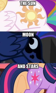 Princess Celestia, Princess Luna, and Twilight Sparkle cool that's why they made Twilight Sparkle a princess too!