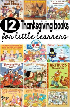 12 Thanksgiving Books for Little Learners Our 12 favorite Thanksgiving books are perfect for your Thanksgiving holiday lesson plans. These are great for preschool, kindergarten, or first grade students. via A Dab of Glue Will Do Thanksgiving Books, Thanksgiving Preschool, Fall Books, November Thanksgiving, Fall Preschool, November Holidays, November 2019, School Holidays, Toddler Preschool