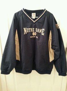 Red Oak Sportswear Notre Dame Fighting Irish Lined Pullover Jacket -Size XL #RedOakSportswear #NotreDameFightingIrish