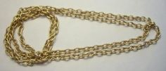 """Funky Vintage Long (52"""") Oval Link Gold / Brass Heavy Chain / Necklace - Free Shipping - $10"""