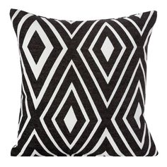 Poszewka na poduszkę w kolorze czarnym w białe romby