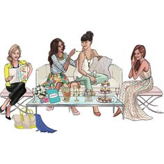 The Sketch Book – Inslee Haynes | Fashion Illustration by Inslee via Polyvore