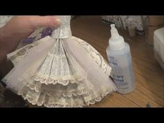 Wedding card - Part 2 - Art Dress Tutorial - The Skirt