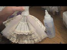 Wedding card - Part 2 - Art Dress Tutorial - The Skirt