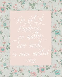 Kindness Quote - Free Printable Art