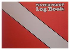 "Waterproof Dive Log Red/White 5.5"" x 4.5"" Marine Sports Manufacturing ..."
