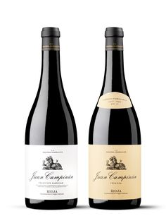 Packaging para la familia de vinos Juan Campinún